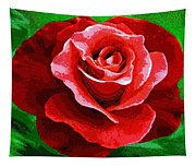 Red Rose Radiance Tapestry