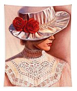 Red Roses Satin Hat Tapestry