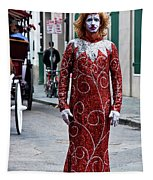 Red Sequined Mime Tapestry
