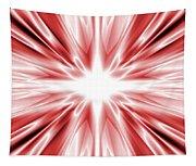 Red Silk Star Tapestry