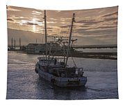 Red Sky At Night Tapestry