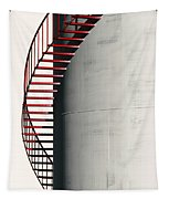Red Steps On Tank Tapestry
