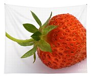 Red Strawberry With Stem Tapestry