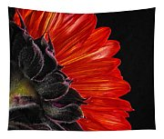 Red Sunflower Vii  Tapestry