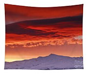 Red Sunrise Over National Park Sierra Nevada Tapestry