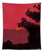 Red - Sunset Tapestry