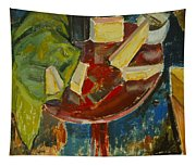 Red Table Top Still Life Tapestry