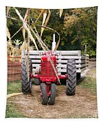 Red Tractor Ready To Roll Tapestry