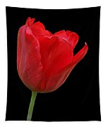 Red Tulip Open Tapestry