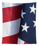 Red White And Blue Tapestry