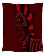 Red Zebra Tapestry