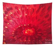 Red Zinnia Tapestry