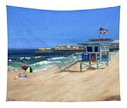 Redondo Beach Lifeguard  Tapestry