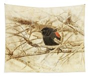 Redwing In The Wind Tapestry