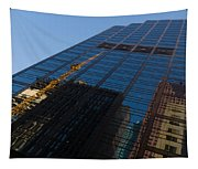 Reflecting On Skyscrapers - Downtown Atmosphere Tapestry