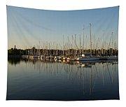 Reflecting On Yachts And Sailboats Tapestry