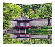 Reflection In Korea Tapestry