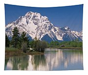 Reflection Of A Mountain Range Tapestry
