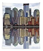 Reflection Of Downtown Nyc Tapestry