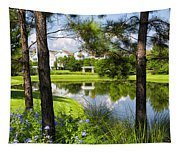 Reflections In A Tranquil Pond Tapestry