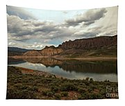 Reflections In Blue Mesa Tapestry