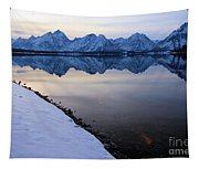 Reflections In Jackson Lake Tapestry