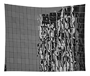 Reflections Of Architecture In Balck And White Tapestry
