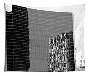Reflections Of Architecture In Black And White Tapestry