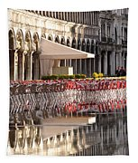 Reflections Of Saint Mark's Square -day Tapestry