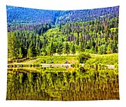 Reflections On A Summer Day - Vail - Colorado Tapestry