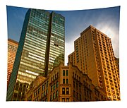Reflections On Buildings Nyc Tapestry