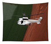 Reflective Helicopter Tapestry