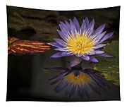 Reflective Water Lily Still Life Tapestry