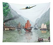 Refugees On The Yangtze Tapestry