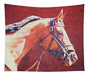 Regal Racehorse Tapestry