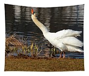 Relaxed Swan Tapestry