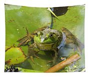 Relaxing On A Lily Pad  Tapestry