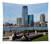 Relaxing Weekend On New York Harbor Tapestry