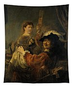 Rembrandt And Saskia In The Parable Of The Prodigal Son Tapestry