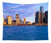 Renaissance Center, Detroit, Sunrise Tapestry