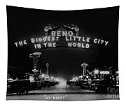 Reno Nevada The Biggest Little City In The World. The Arch Spans Virginia Street Circa 1936 Tapestry