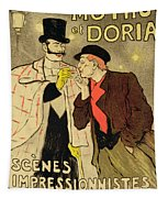 Reproduction Of A Poster Advertising Mothu And Doria In Impressionist Scenes Tapestry