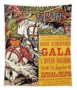 Reproduction Of A Poster Advertising The Fetes De Paris Tapestry