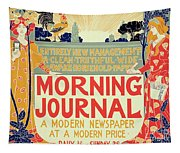 Reproduction Of A Poster Advertising The Morning Journal Tapestry