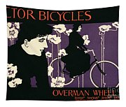 Reproduction Of A Poster Advertising Victor Bicycles Tapestry