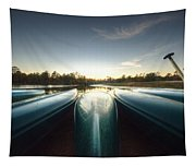 Resting Canoes Tapestry