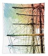 Resting In Harbor Tapestry