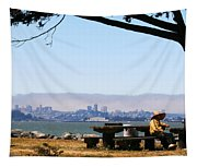 Resting On The Emeryville Penninsula Tapestry