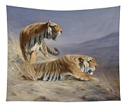 Resting Tigers Tapestry