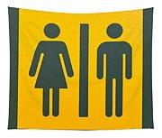 Restroom Sign Symbol For Men And Women Tapestry